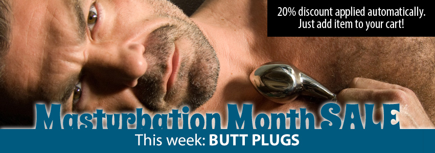 20% Off Butt Plugs for 1 Week Only!