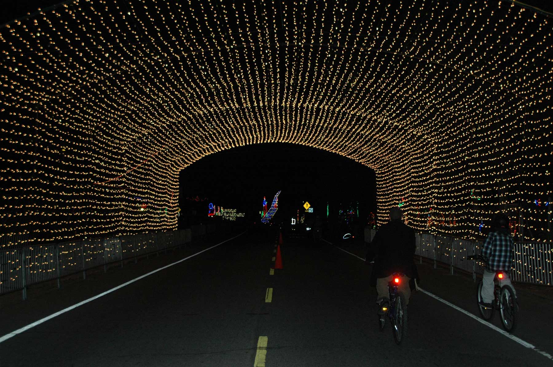Bike Night At The Holiday Light Festival