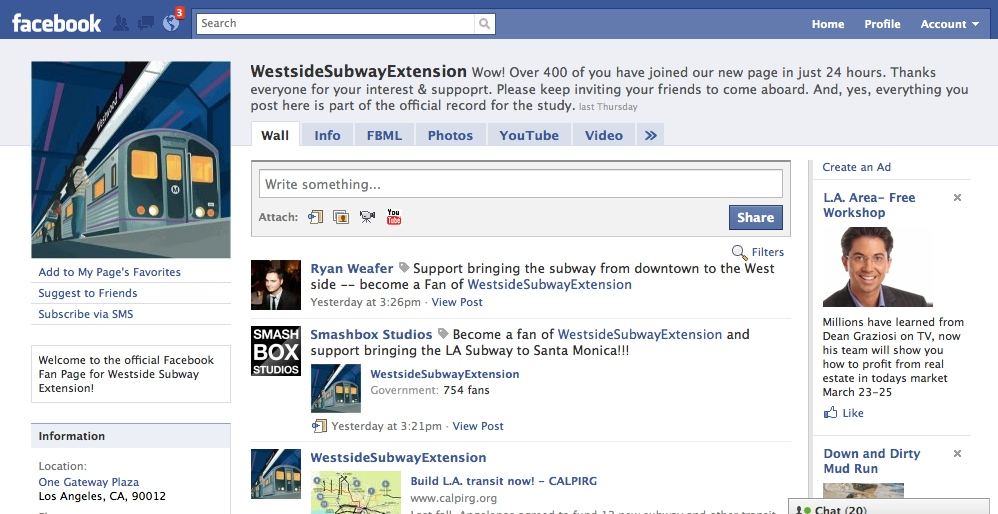 facebook templates for projects - subway project launches new facebook page the source