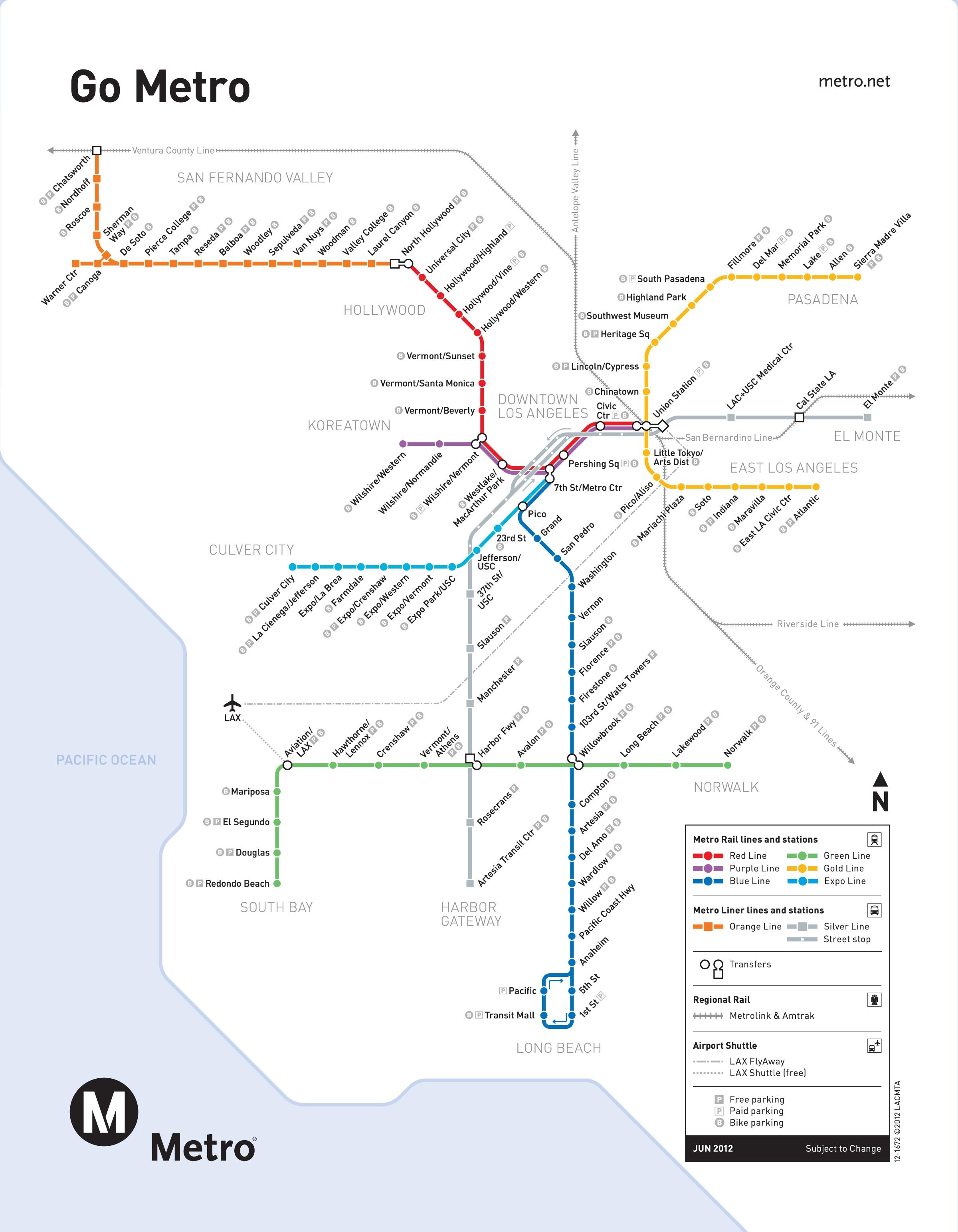 U Bahn Los Angeles Map
