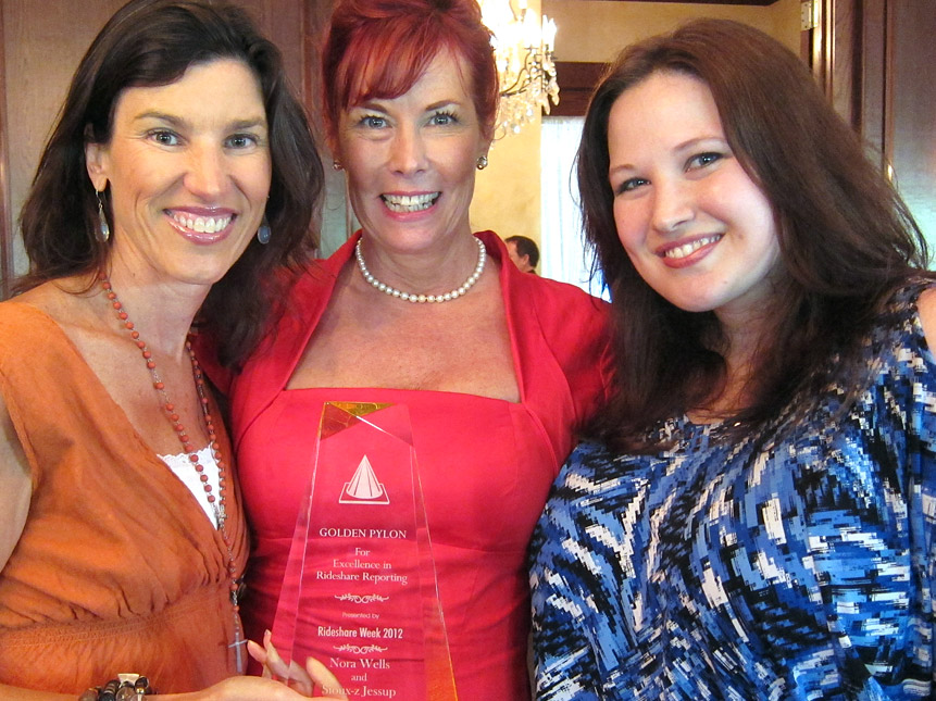 2011 winner Kajon Cermak of KCRW with Sioux-z Jessup, left, and Nora Wells.
