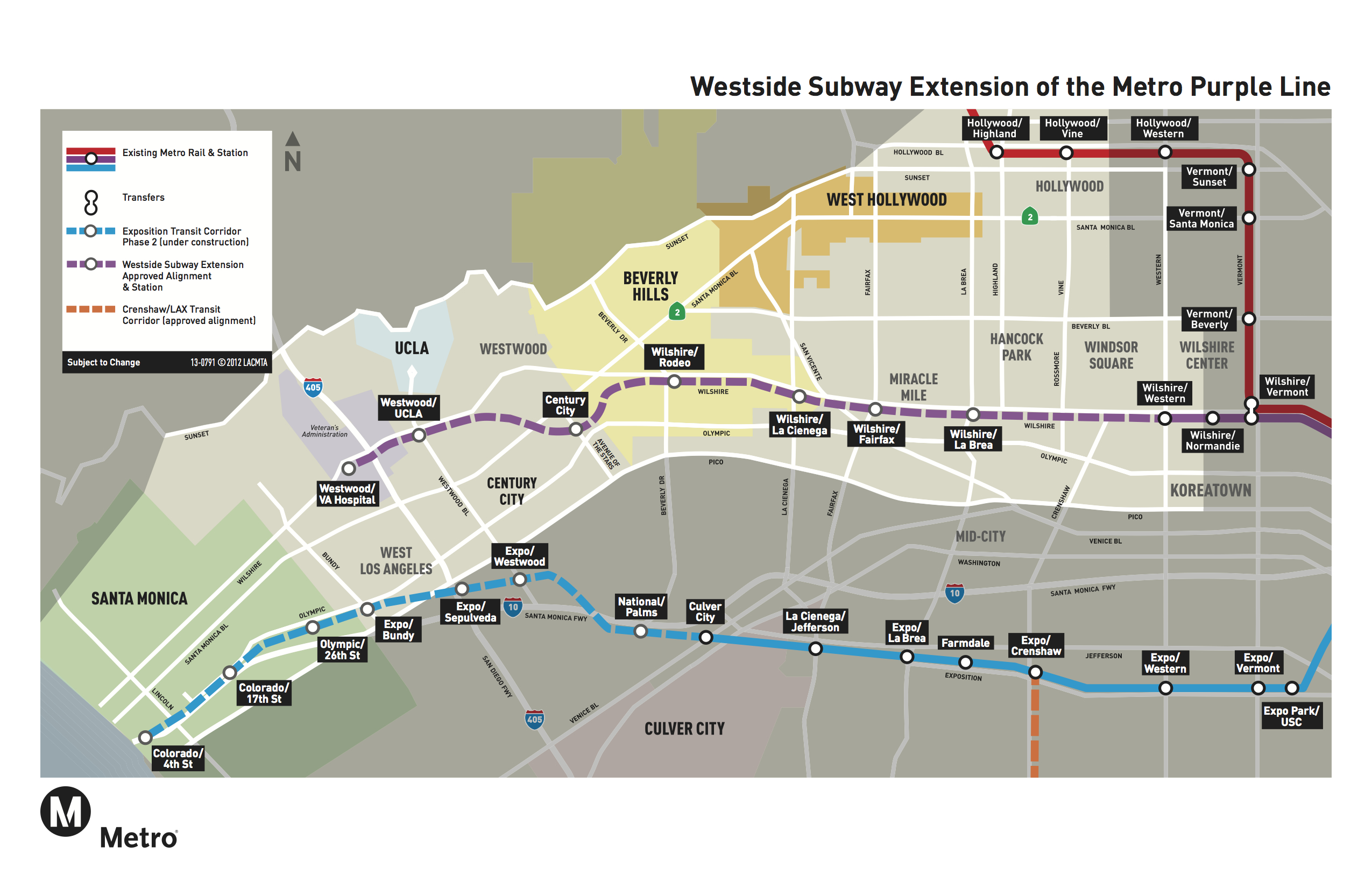 Red Line Los Angeles Subway Map.First Phase Of Metro Red Line Celebrates 20 Year Anniversary The