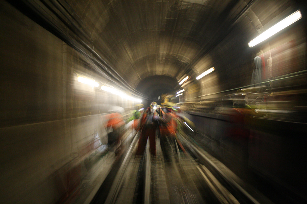 ART OF TRANSIT: workers in the Chicago subway. Photo by Chicago Transit Authority, via Flickr creative commons.