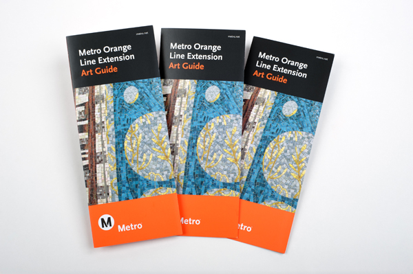 Metro Orange Line Extension Art Guide, which won an Award of Excellence in the 2013 TMSA Compass Awards Program.