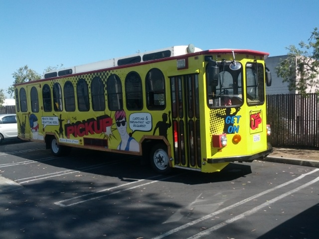 The PickUp Line, the new entertainment shuttle of WeHo. Photo: City of West Hollywood.