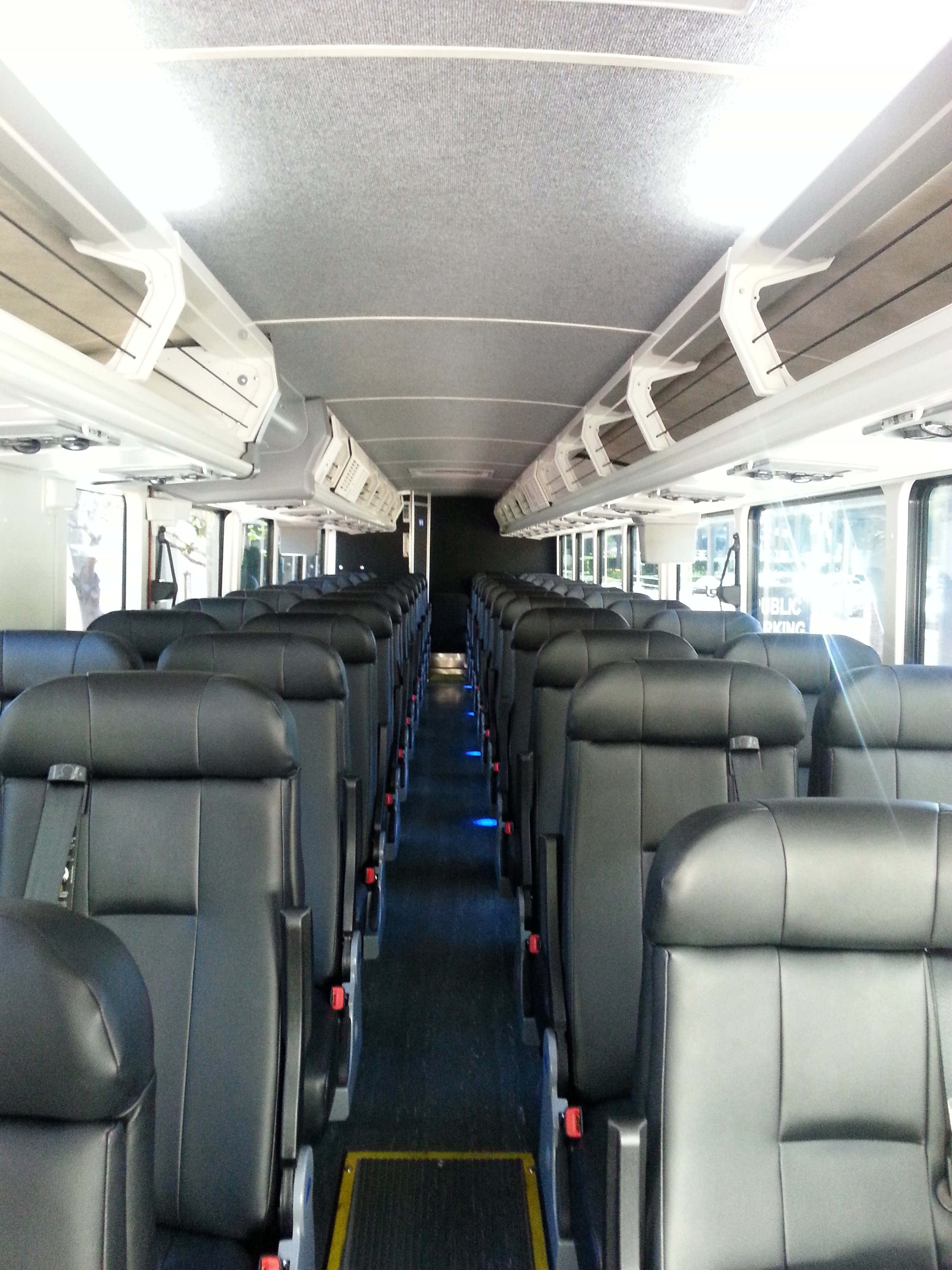 Photo of Bolt Bus - New York, NY, United States. The driver signed