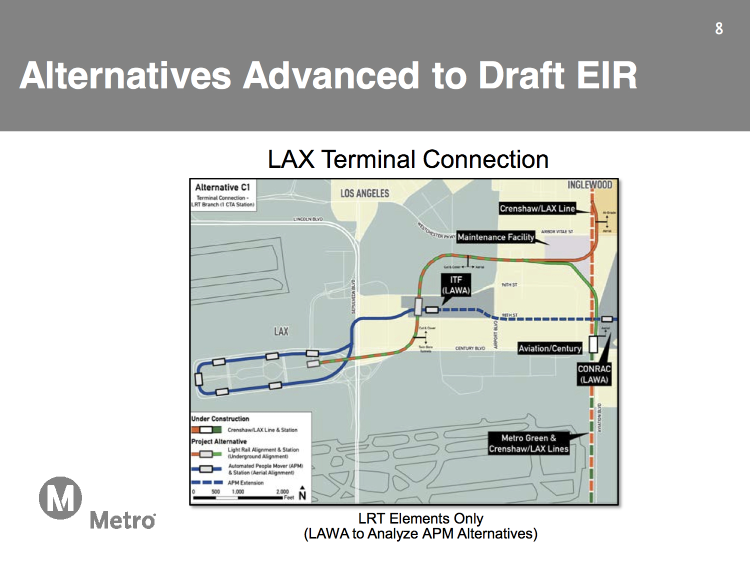 Four alternatives move forward for Airport Metro Connector project ...