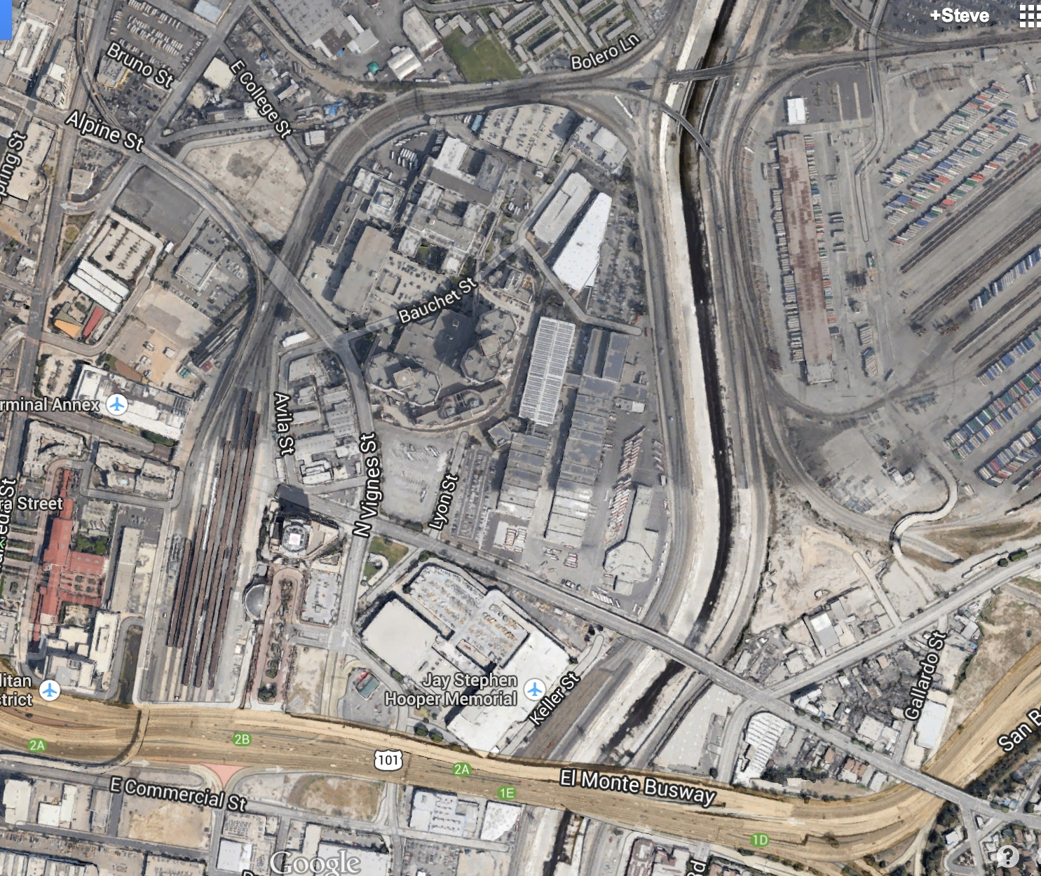 Metro Board Approves Contract For Union Station Regional Rail - Current aerial maps