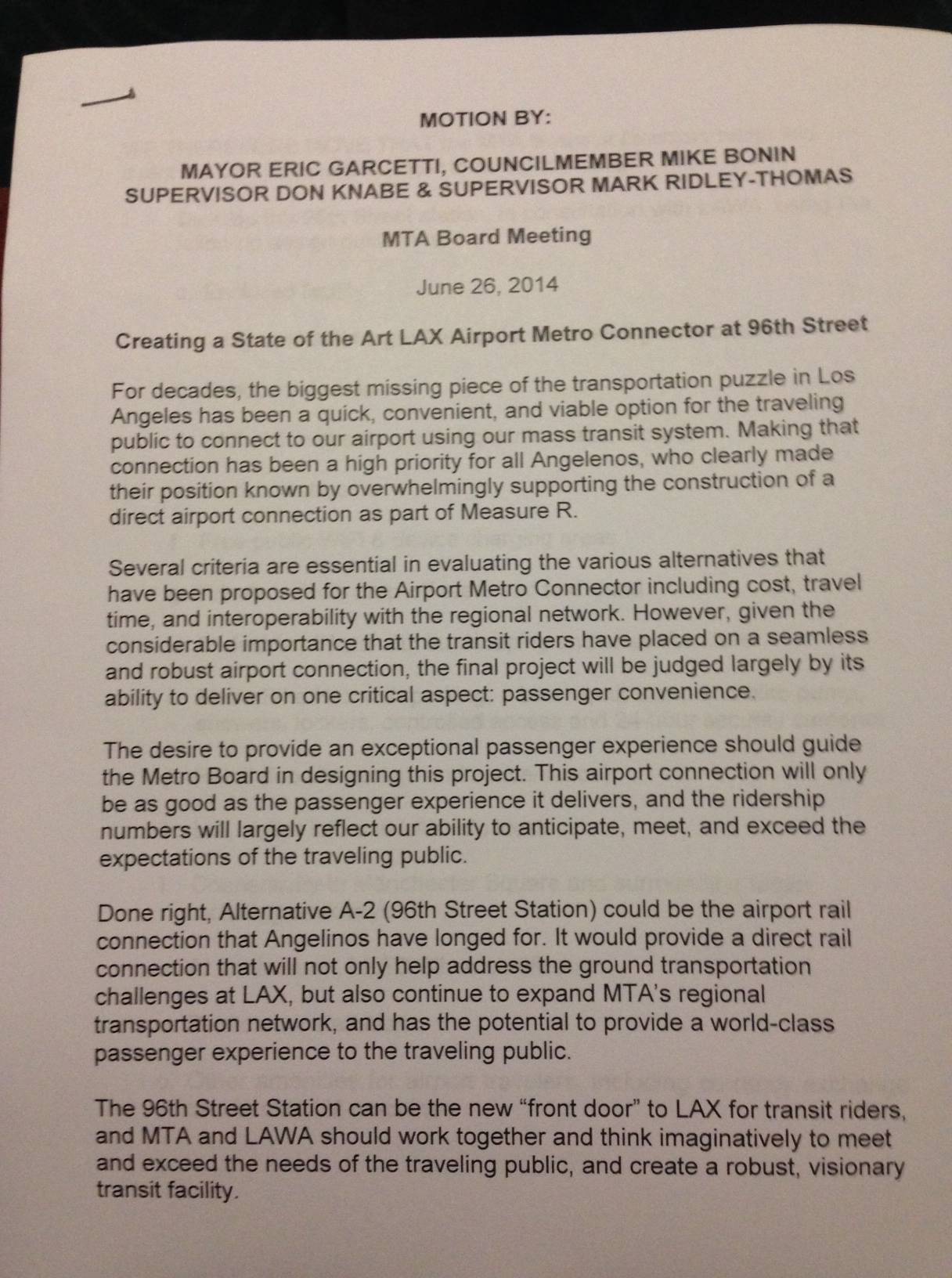 Metro Board approves new station at Aviation/96th as best option to