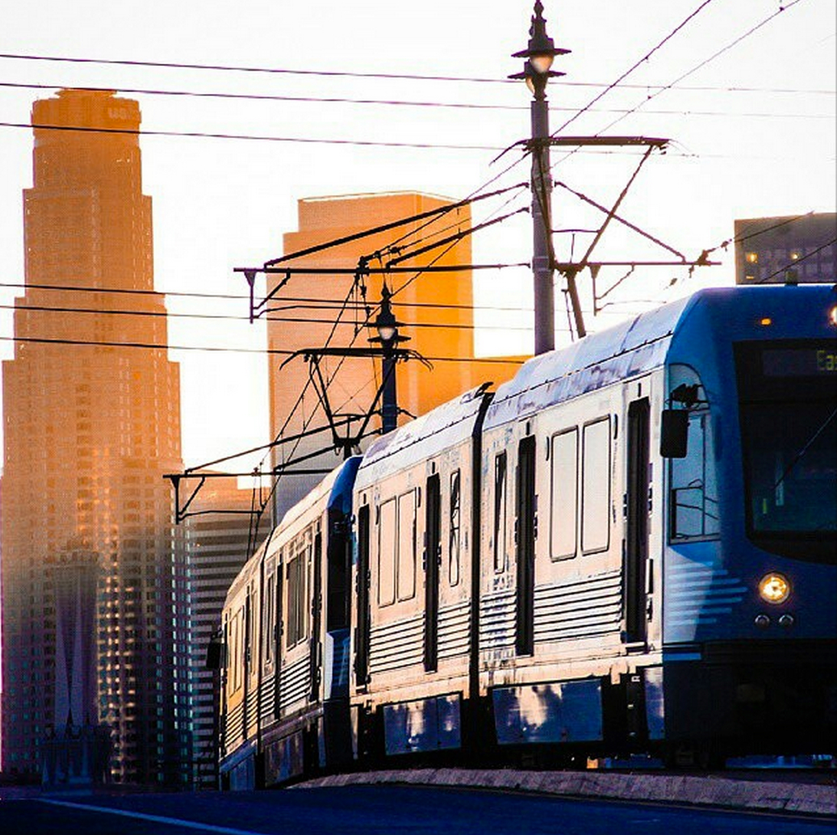 ART OF TRANSIT: Gold Line train leaving downtown L.A. Photo from Instagram via @jperson111111