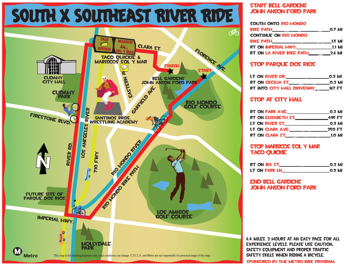 Ride map for South x Southeast Bicycle Ride