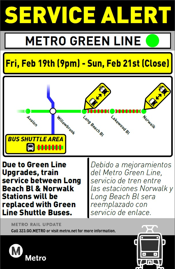 Green Line Bus Bridge Feb 19-21