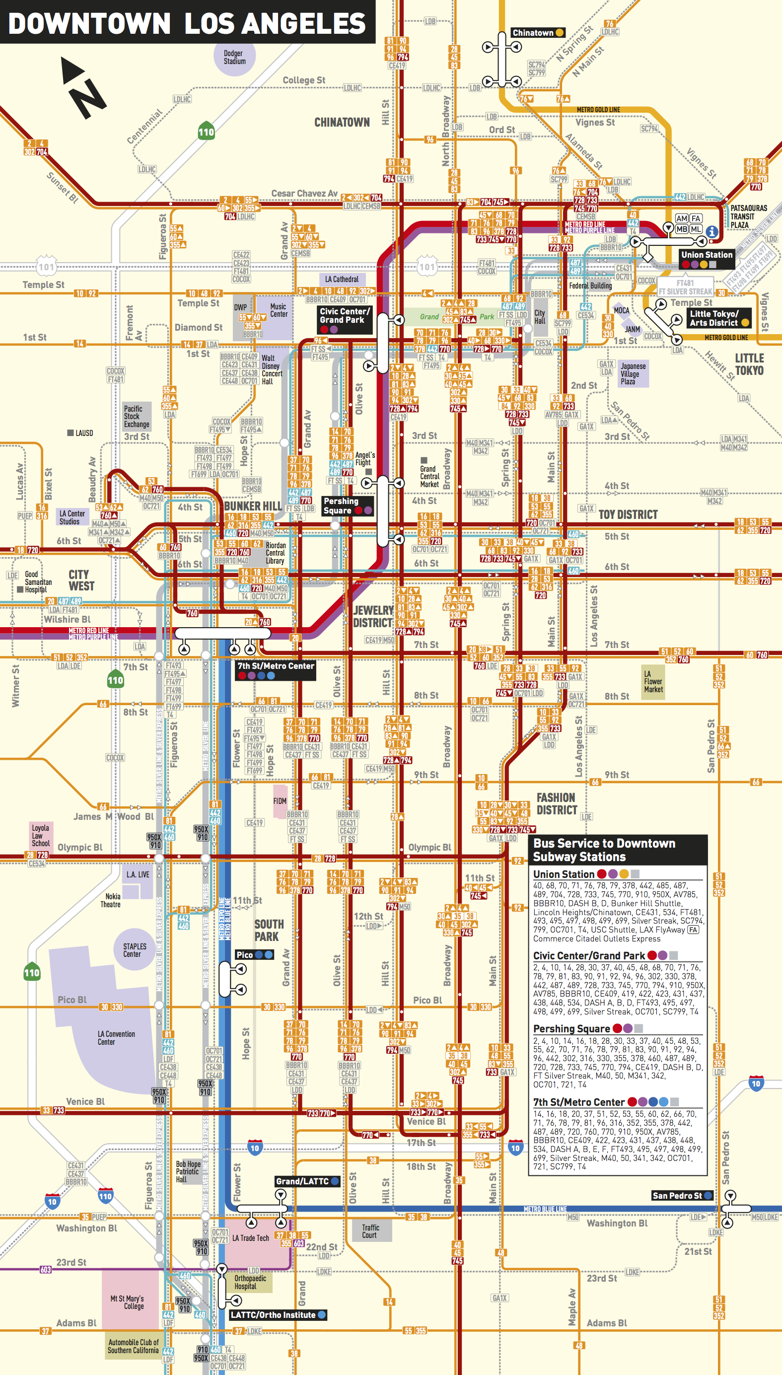 La Subway Map Red Line.Update Red Purple Line Trains Resume Normal Service The Source