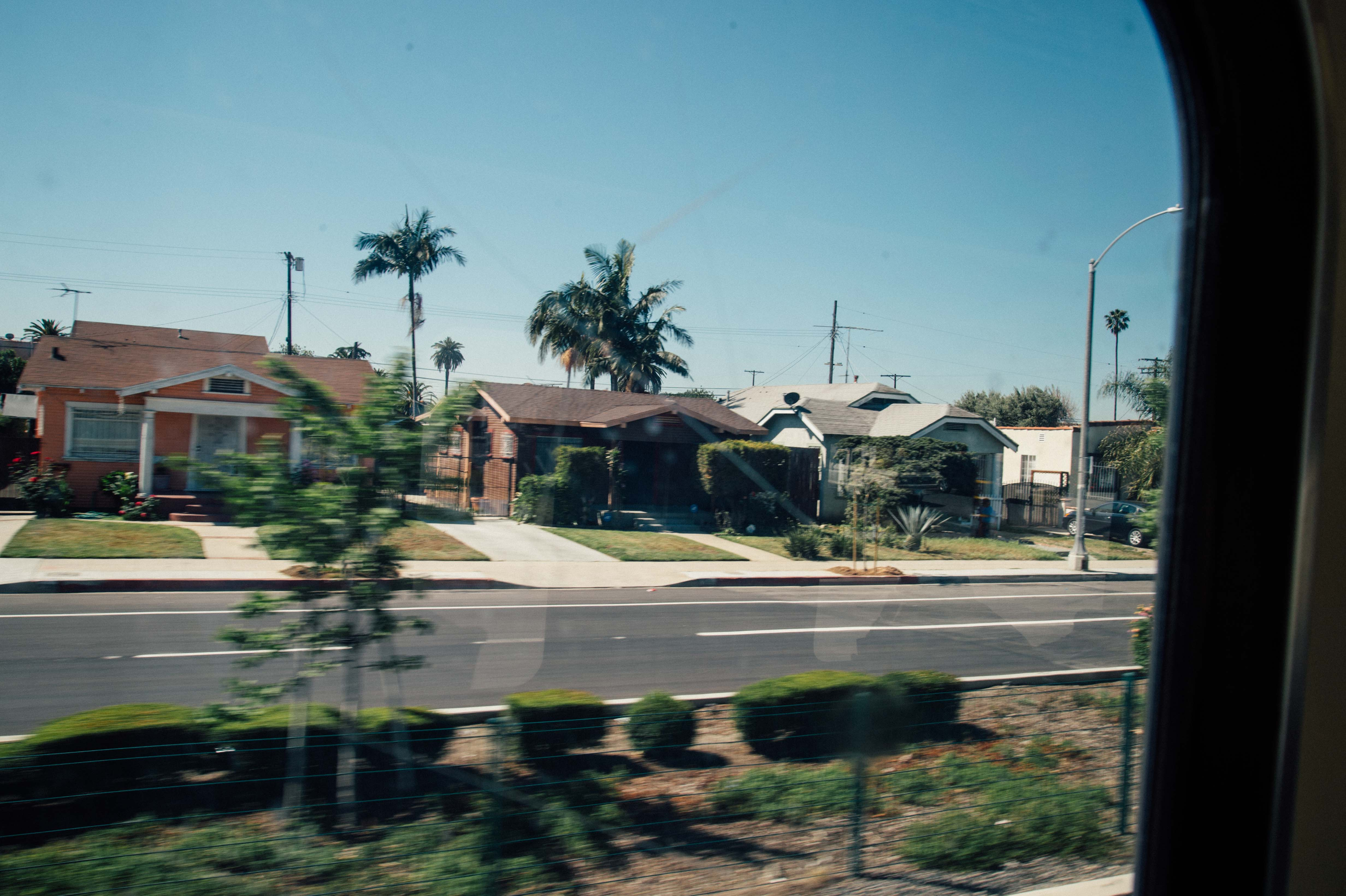Bungalows along Exposition Boulevard along the first phase of the Expo Line. Photo by Steve Hymon/Metro.