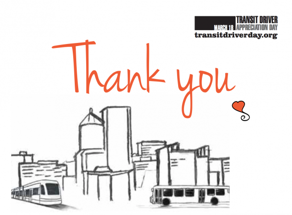 celebrate transit driver appreciation day on friday march 17 the