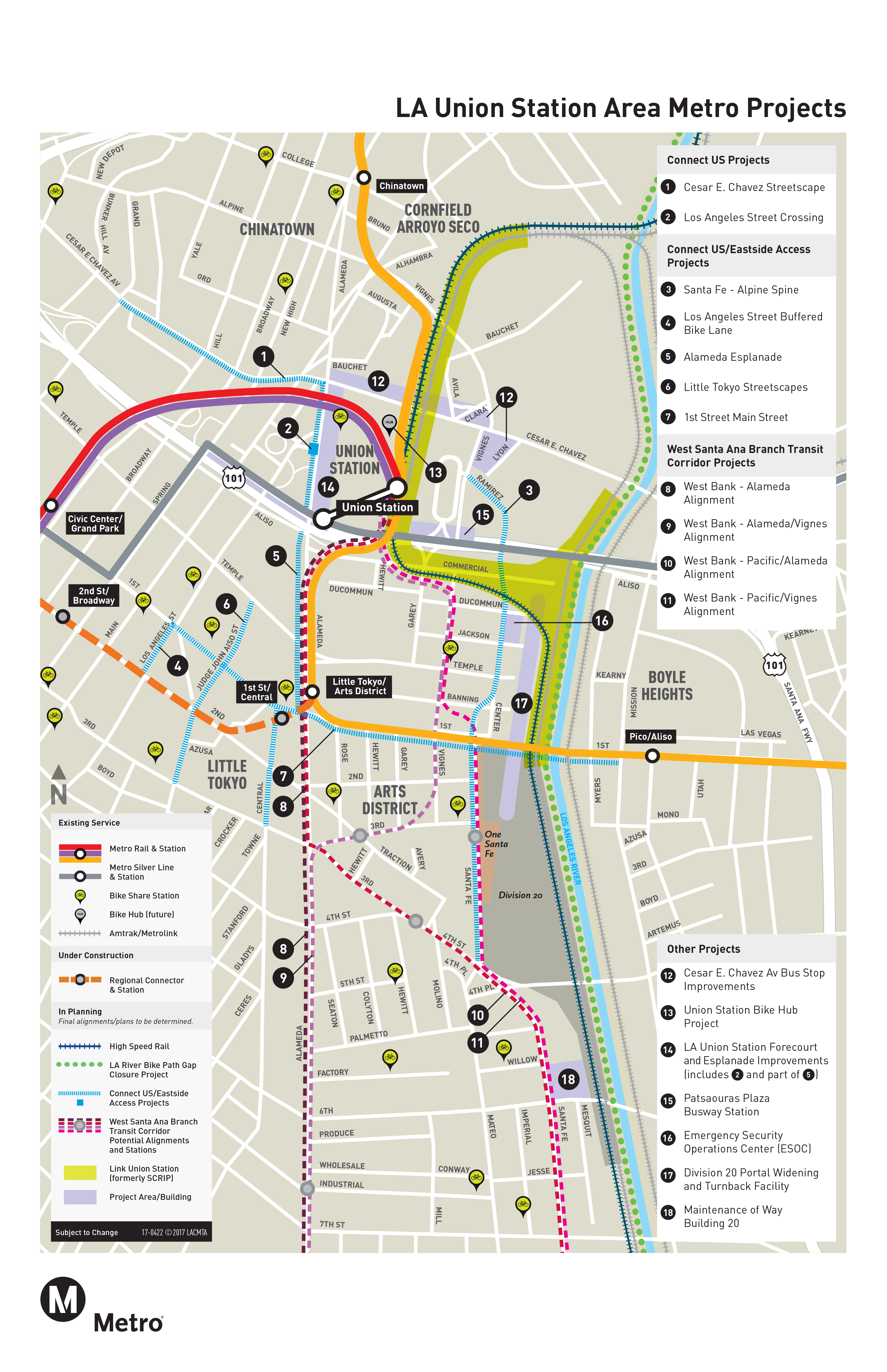 Los Angeles Union Station Map Fresh map: the many projects near and dear to Union Station   The