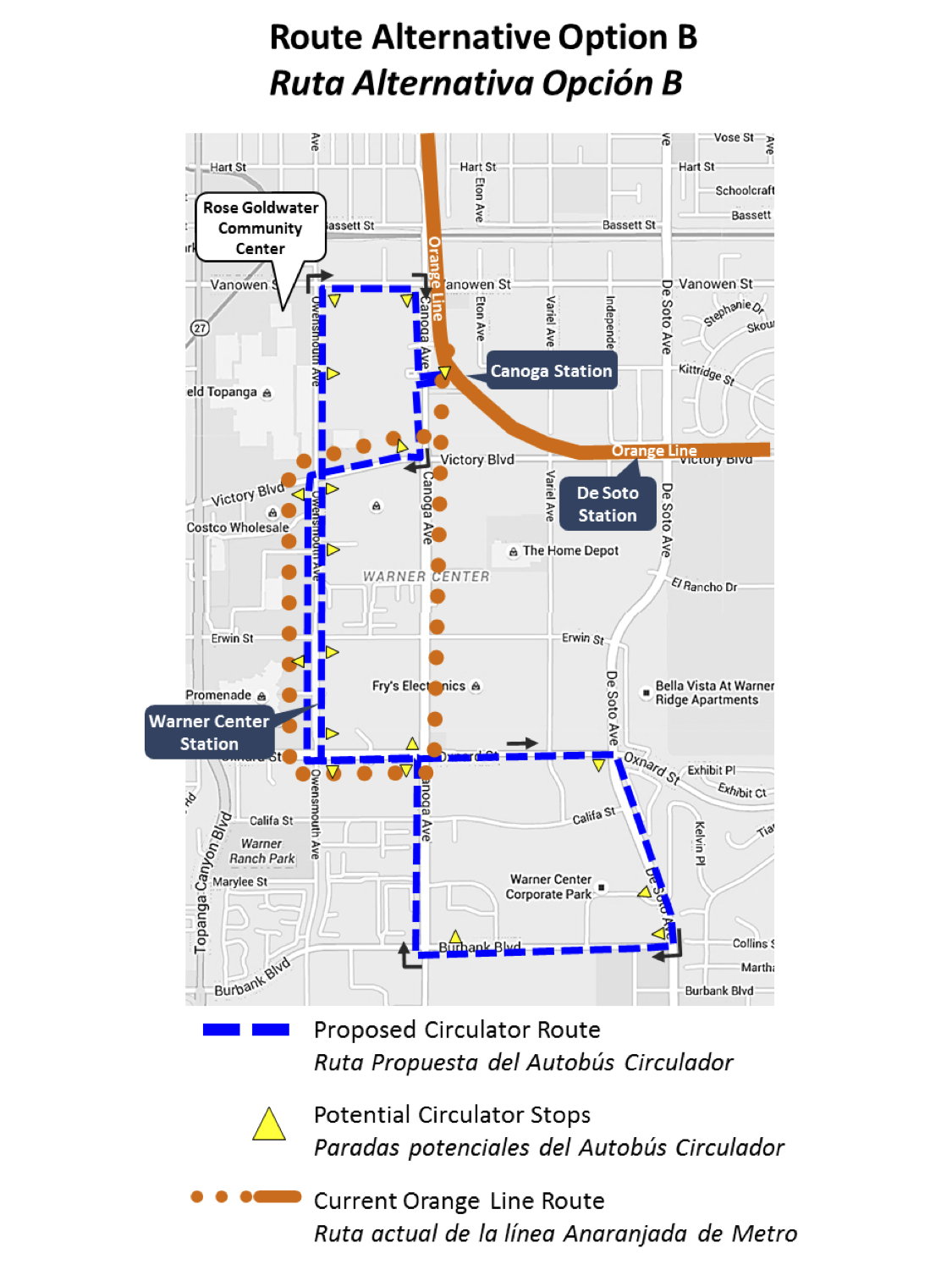 Maps Multiple Stops >> Metro proposes discontinuing Orange Line to Warner Center and replacing with shuttle with more ...