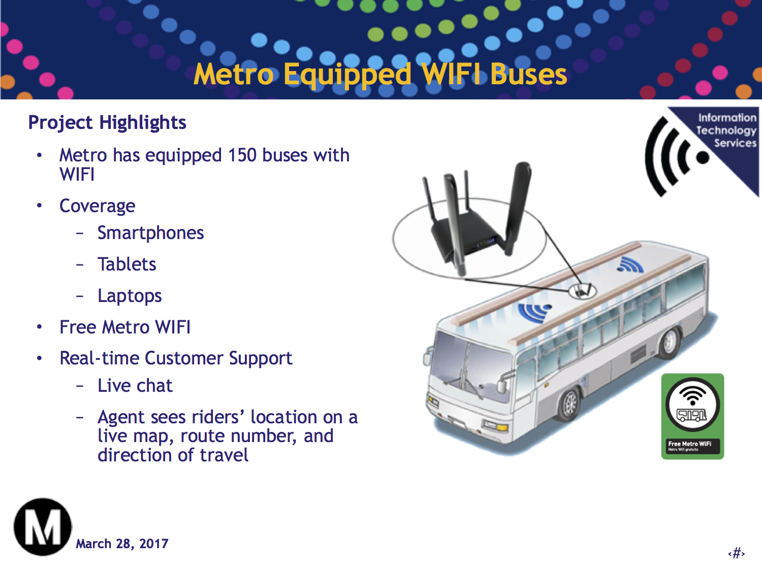 Pilot program begins to put WiFi on 150 Metro buses - The Source