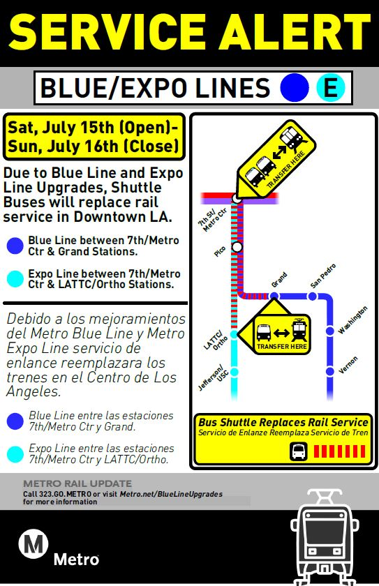 This Weekend Bus Shuttles Replace Blue And Expo Line In