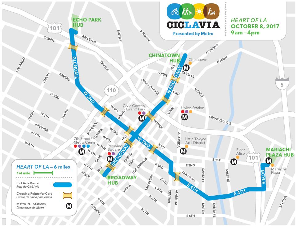 La Metro Map 2018.Go Metro To Ciclavia Heart Of La This Sunday The Source
