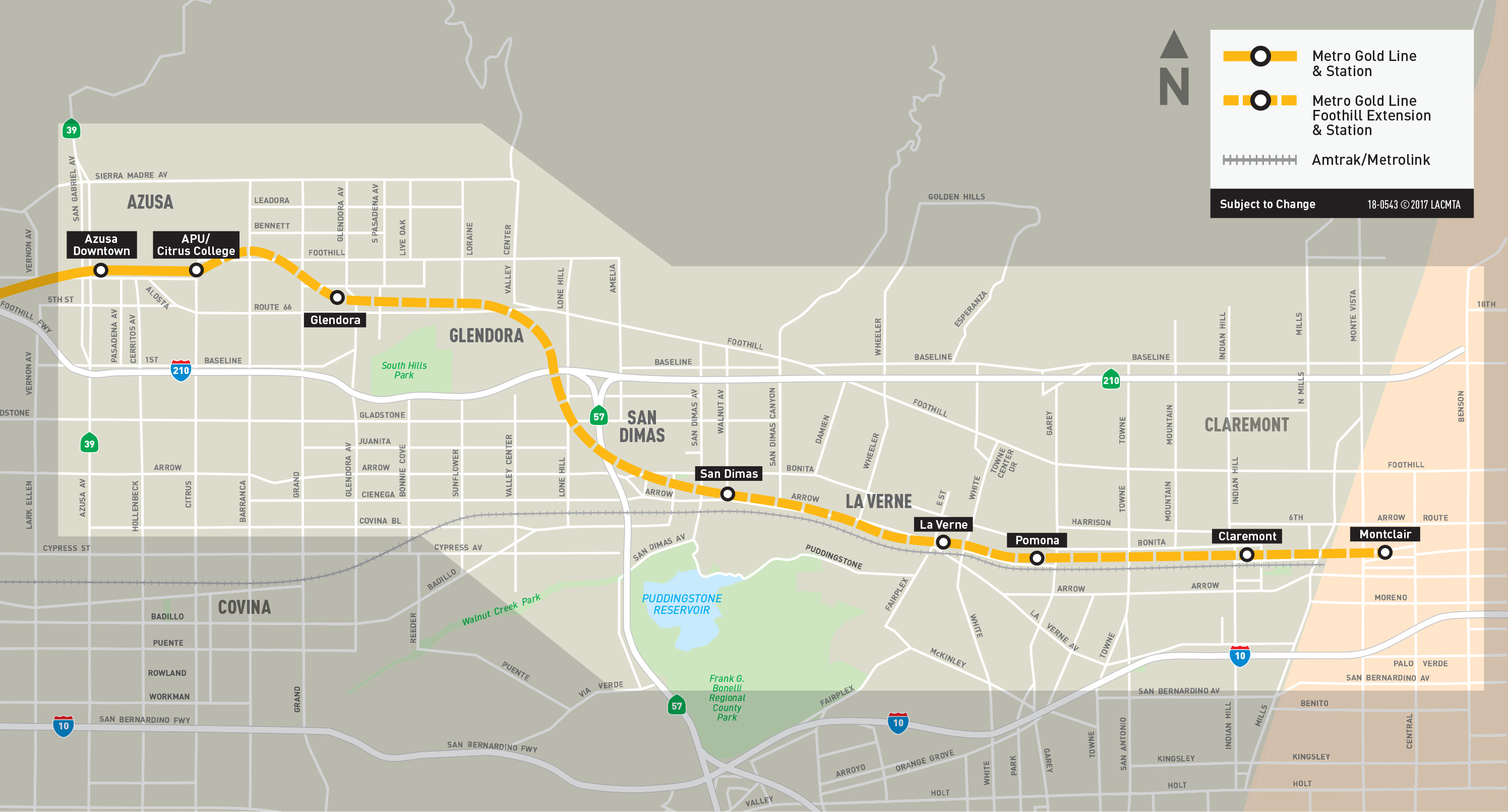 Metro Gold Line Extension Map New video: take an aerial tour of the Gold Line extension to