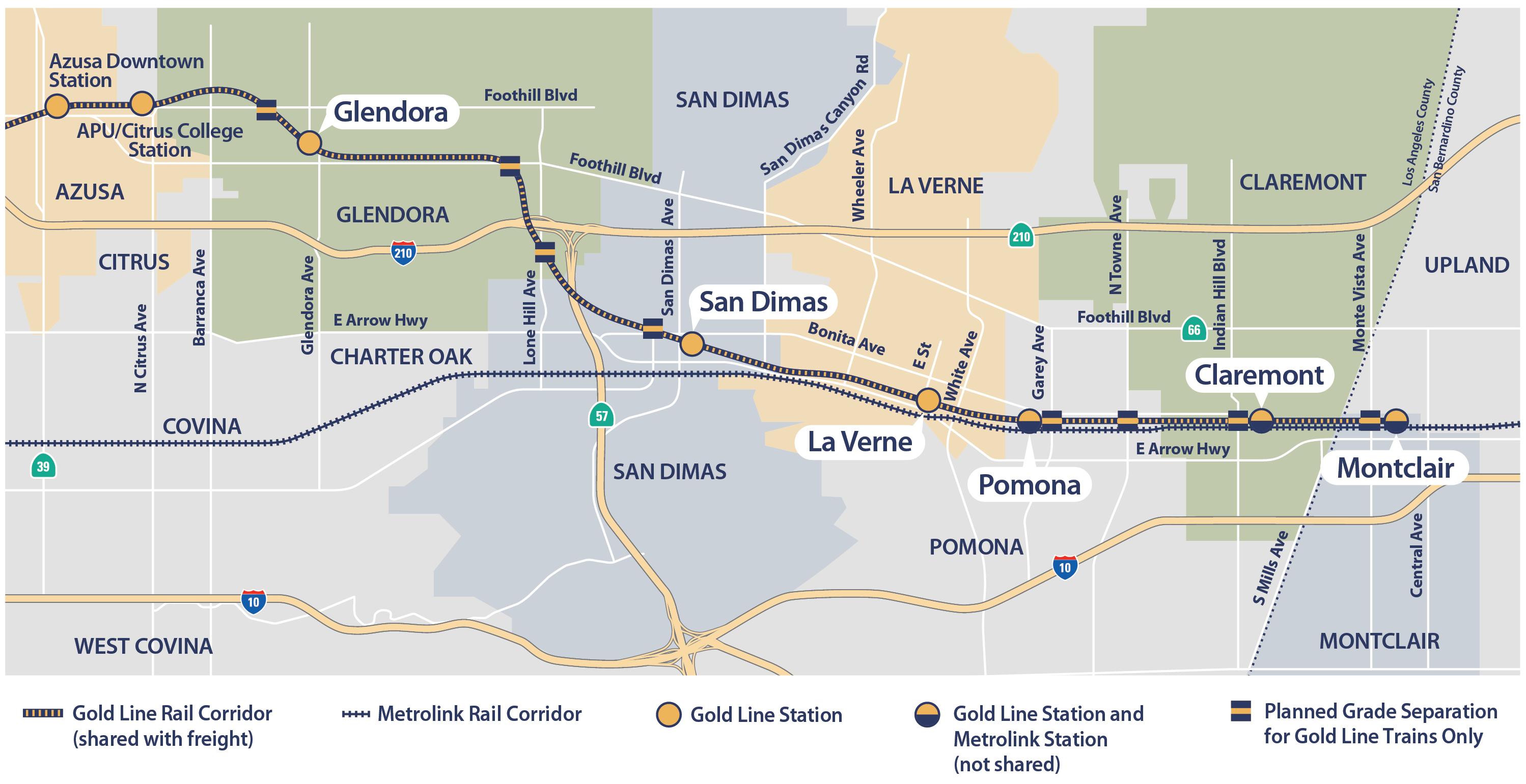 Metro Gold Line Extension Map Groundbreaking ceremony held for Gold Line extension to Claremont