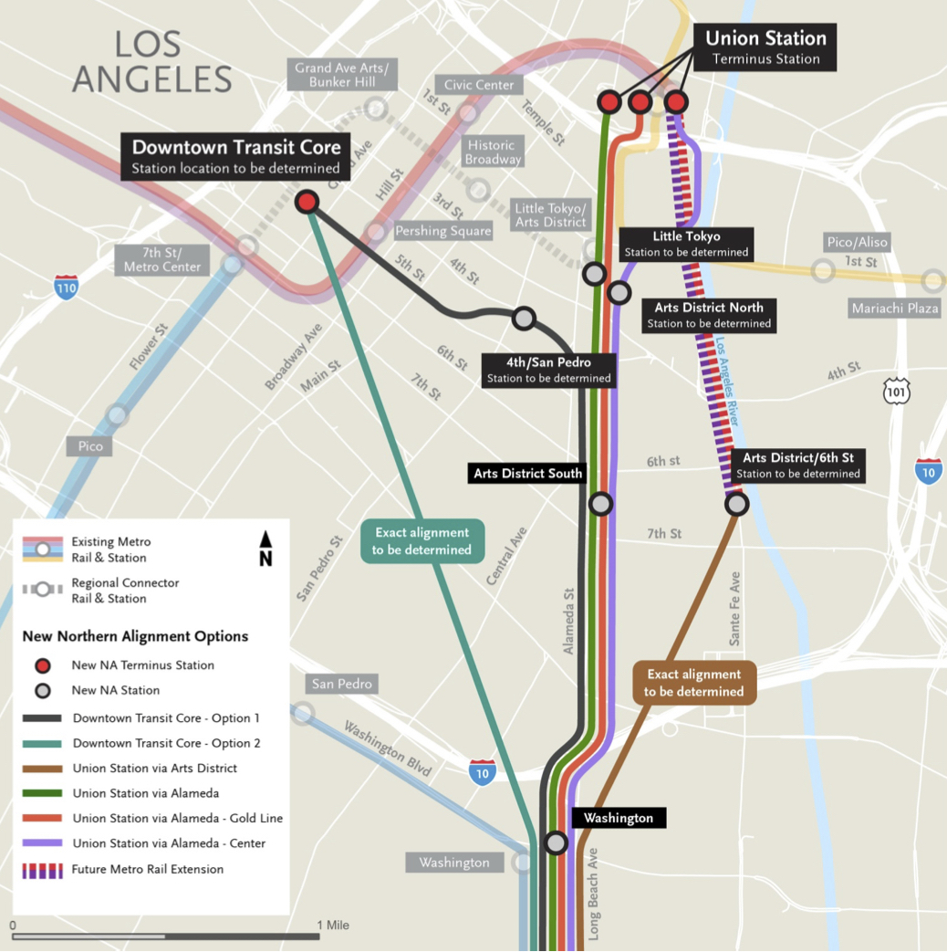 Subway Map 1 Train Route.New Northern Routes To Be Studied For Artesia To Downtown La Light Rail