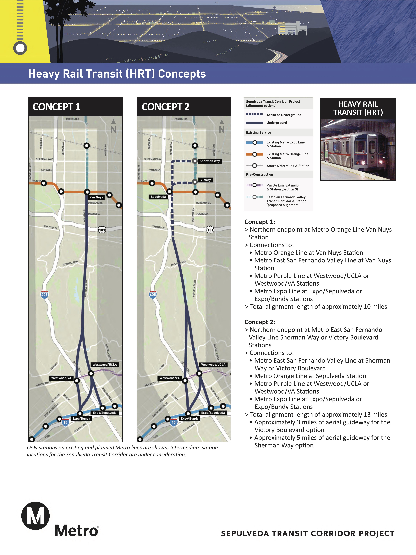 Rail concepts released for Sepulveda Transit Corridor