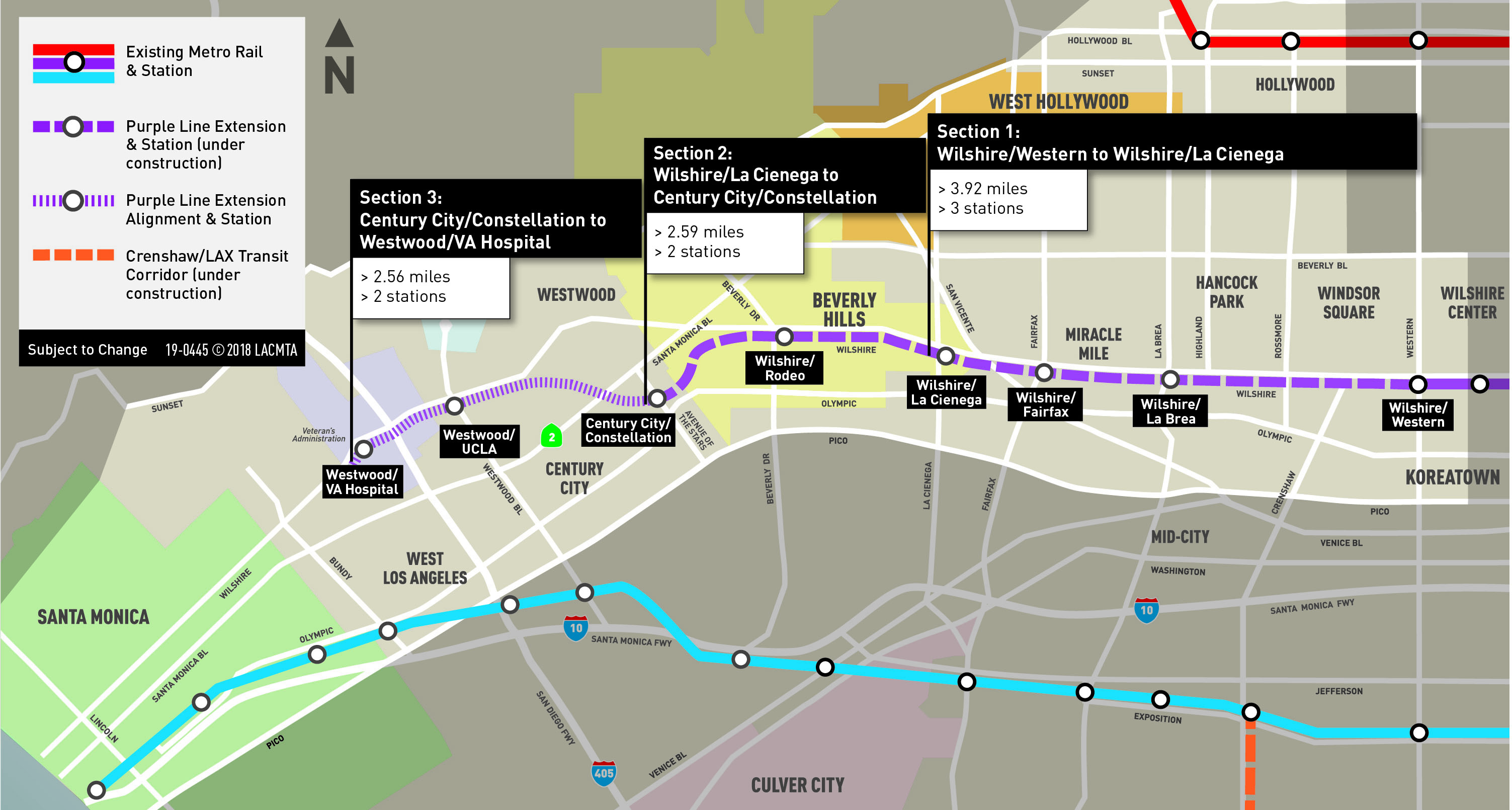 Bundy Campus Map.Facts About Purple Line Extension Construction In Beverly Hills