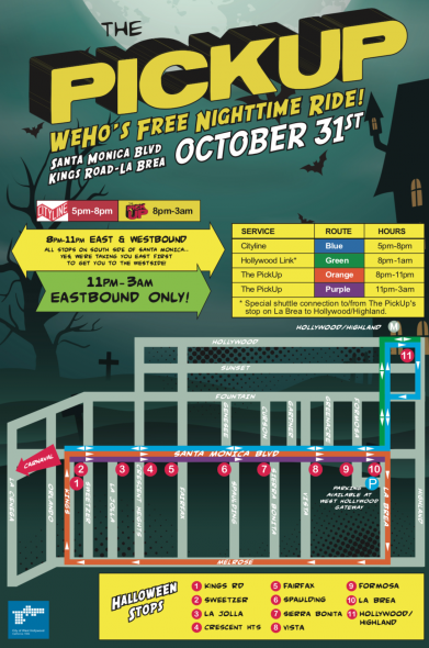 e851f852 The City of West Hollywood's Halloween Carnaval will take place on  Wednesday, Oct. 31 from 6 p.m. to 11 p.m. along Santa Monica Boulevard  between Doheny ...
