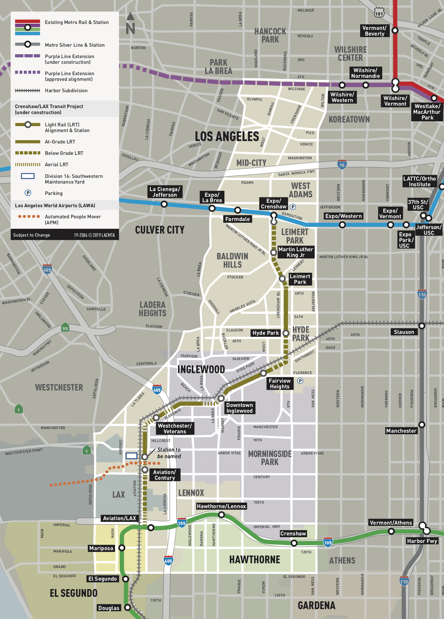 Grand opening: New rail yard that will serve Crenshaw/LAX and Green ...