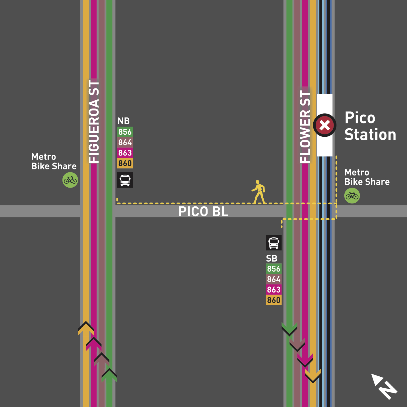 Audiosorce Subway Map.Expo Line S Pico And 7th St Metro Center Stations To Close For 60