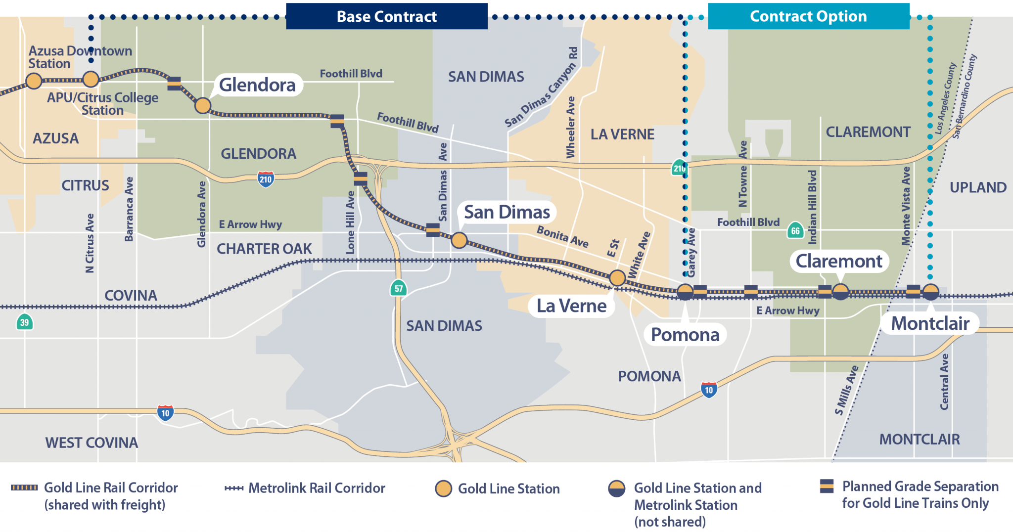Contract awarded to build first segment of Gold Line