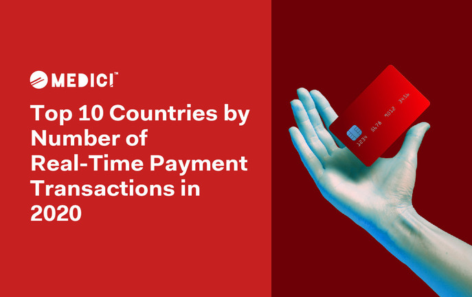 Top 10 Countries by Number of Real-Time Payment Transactions in 2020