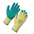 Latex Palm Coated Handler Gloves - Green 12 Pack in Large