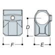 Aluminium Short Tee (48.3mm) - Kee Lite (L10-8)