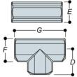 Aluminium Long Tee (33.7mm) - Kee Lite (L25-6)