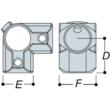 Aluminium 3 Way Corner (48.3mm) - Kee Lite (L21-8)