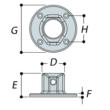 Aluminium Wall Plate (33.7mm) - Kee Lite (L61-6)