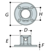 Aluminium Wall Plate (48.3mm) - Kee Lite (L61-8)