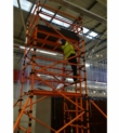 HiLyte Leader 500 GRP Scaffold Tower, Single Width (0.85m), 1.8m Length