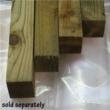 Tanalised Raised Bed Kit Timber - 1.8m (6ft) x 1.2m (4ft)