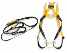 RidgeGear Scaffolders Twin Leg Safety Harness Kit RGHK4 Leather