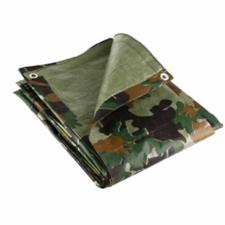 Camouflage Tarpaulin, 1.8m x 2.4m, Lightweight 80GSM