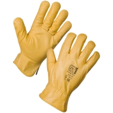 Pair of Leather Driving Gloves, Yellow