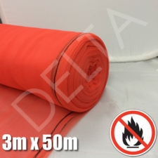 Flame Retardant Debris Netting - 3m x 50m - Red