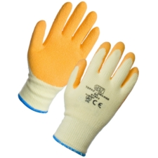 Topaz Latex Palm Coated Orange Gloves (XL - 12 Pack)