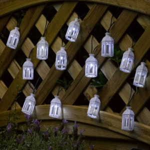 Solar String Light – 16 Moroccan Lanterns White