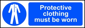 Protective clothing must be worn - RPVC (300 x 100mm)