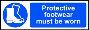Protective footwear must be worn - RPVC (300 x 100mm)